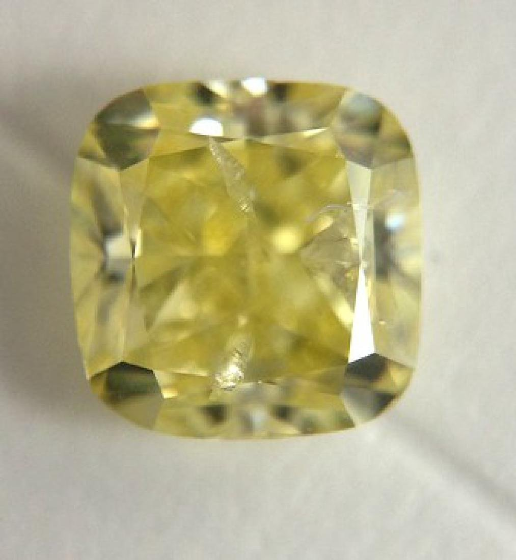 Diamond Colored Cushion 1.03cts FY  GIA