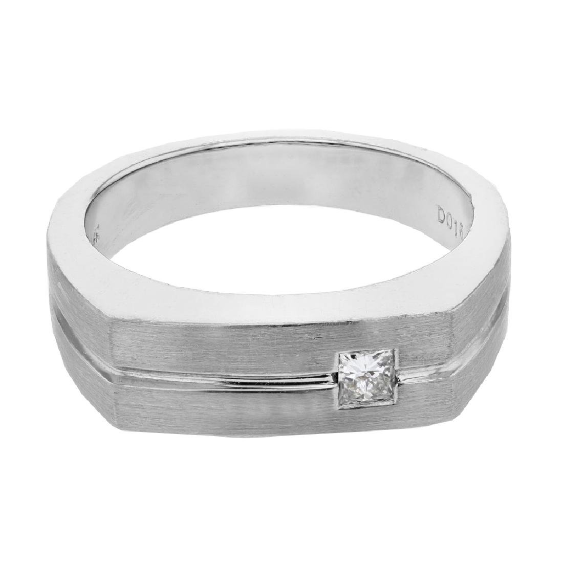 0.16 CTW 14K White Gold Gents Ring