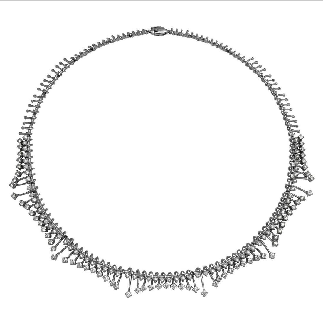 Genuine 5.39 TCW 14K White Gold Ladies Necklace