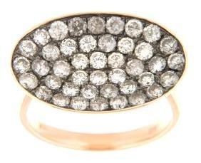 18K Rose Gold 1.87CTW Diamond Rings