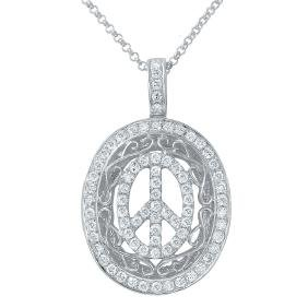Genuine 0.65 TCW 14K White Gold Ladies Necklace