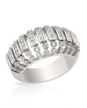 14KWhite Gold 1.17 CTW Diamond Ring