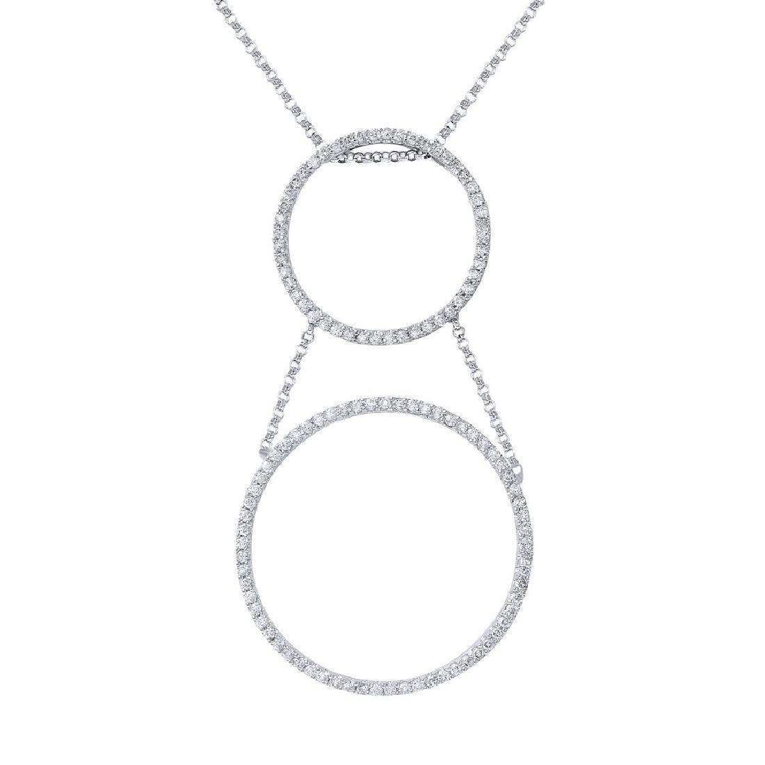 Genuine 1.44 TCW 18K White Gold Ladies Necklace