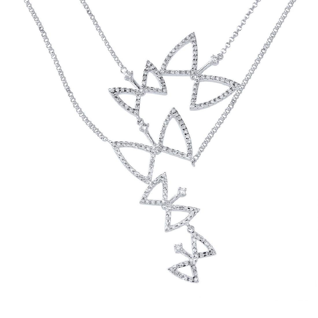 Genuine 1.07 TCW 14K White Gold Ladies Necklace