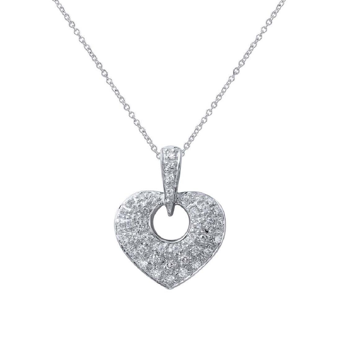Genuine 0.46 TCW 18K White Gold Ladies Necklace