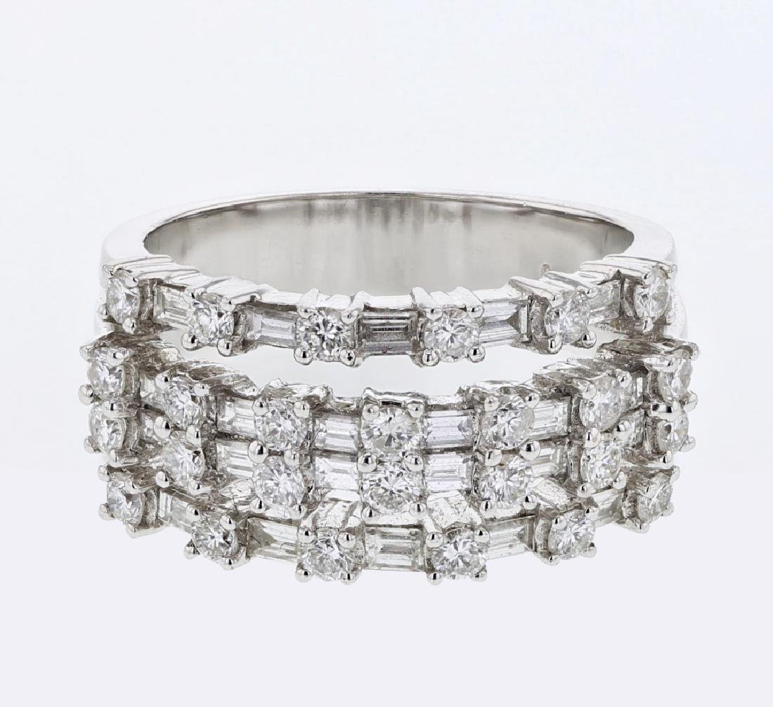 Genuine 1.49 TCW 18K White Gold Ladies Ring
