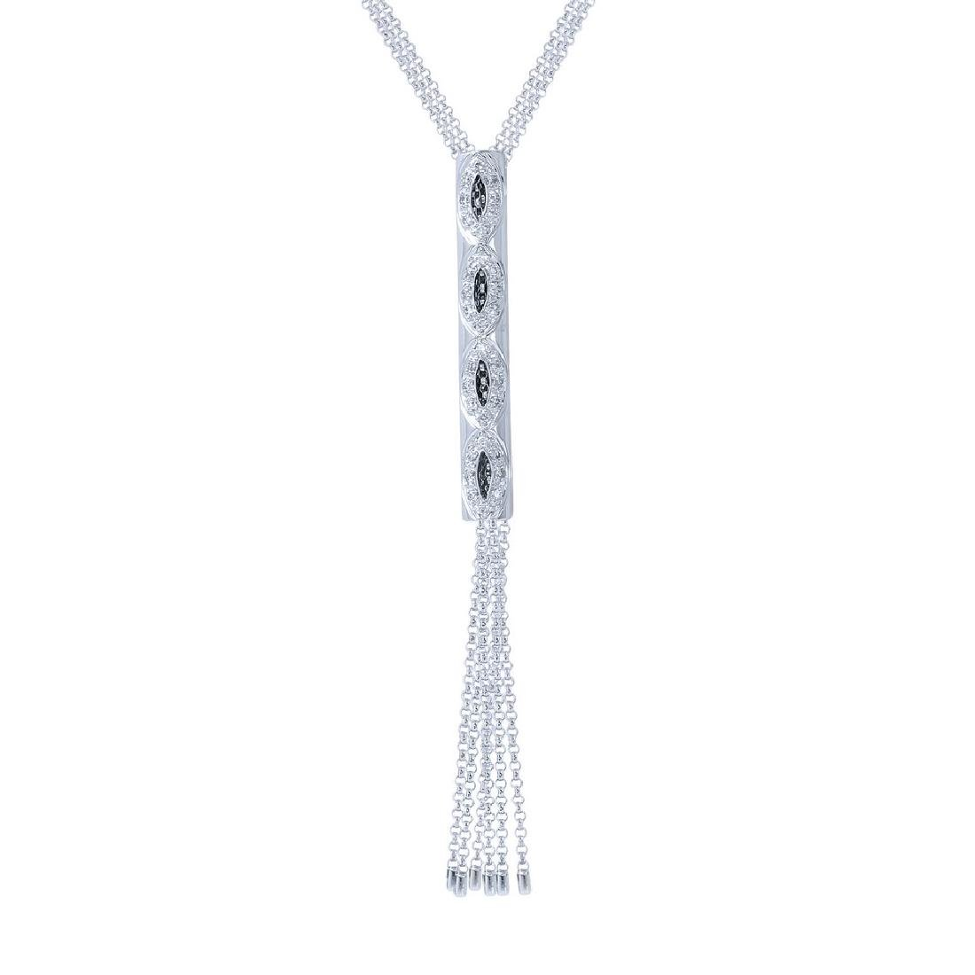 Genuine 0.27 TCW 14K White Gold Ladies Necklace