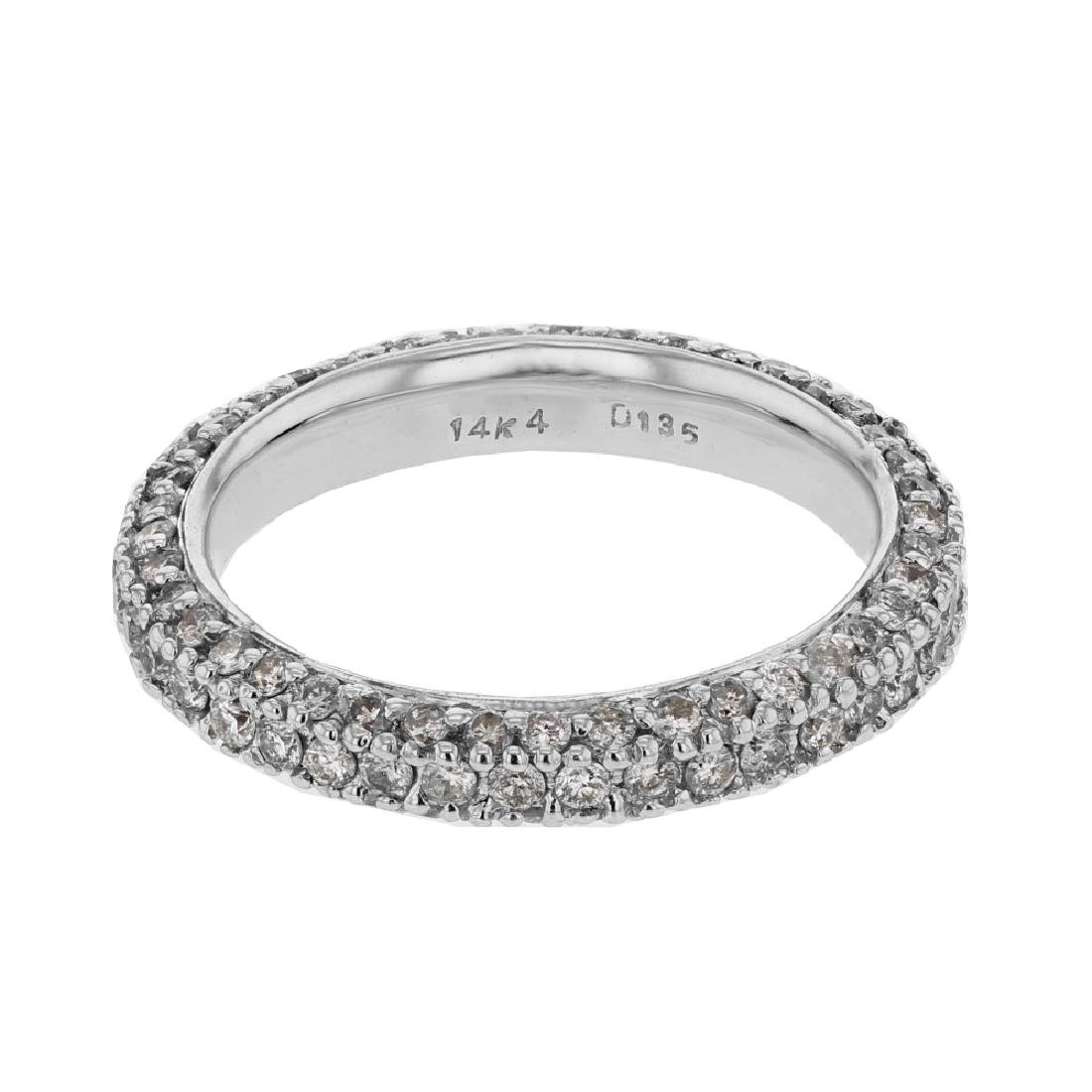 1.35 CTW 14K White Gold Ladies Band Ring