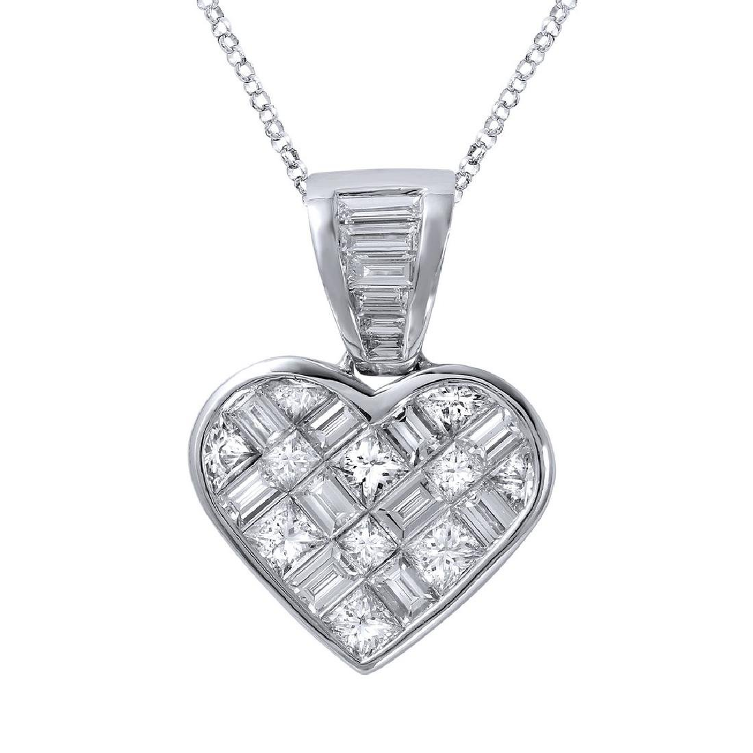 Genuine 5.16 TCW 14K White Gold Ladies Necklace