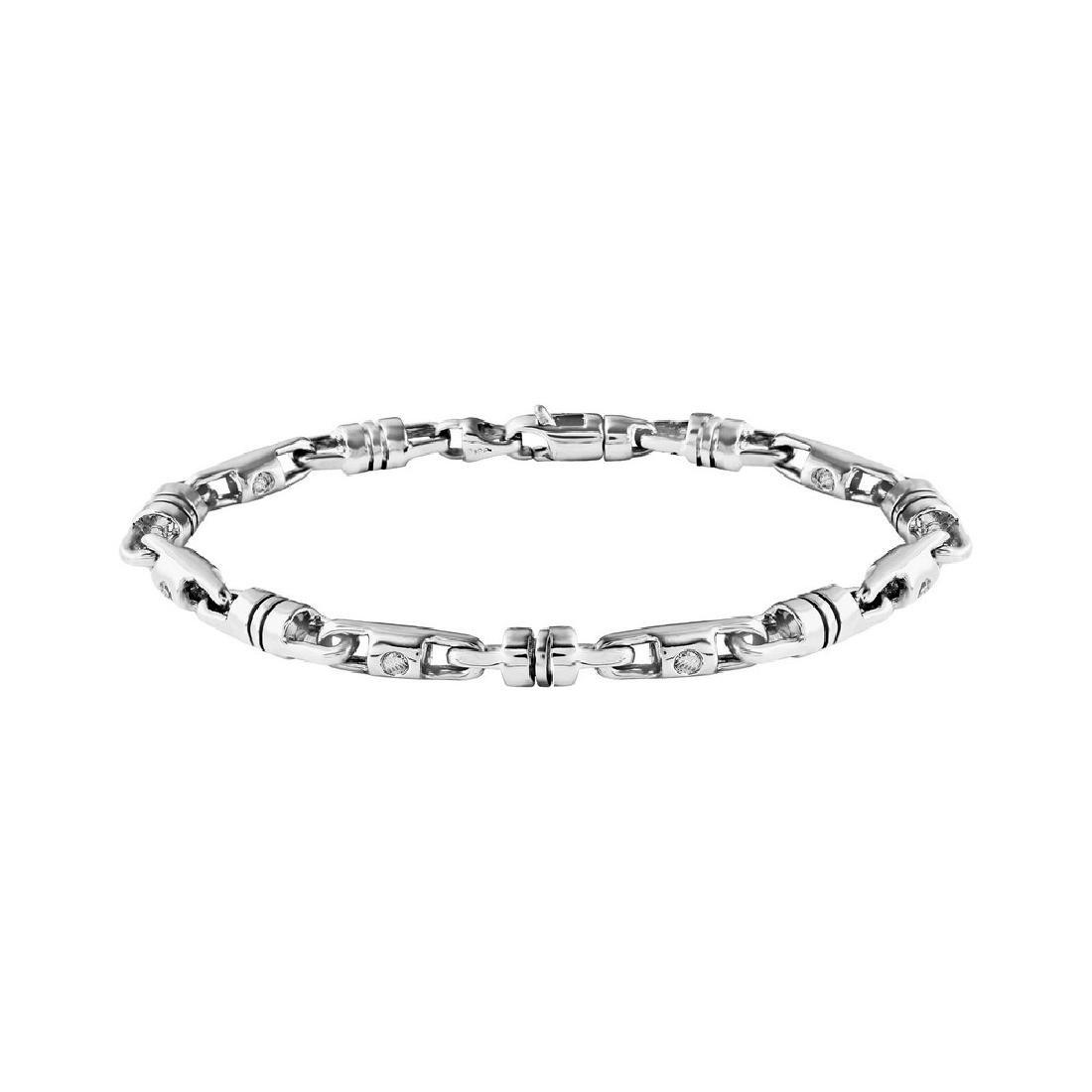 Genuine 2.97 TCW 14K White Gold Ladies Bracelet