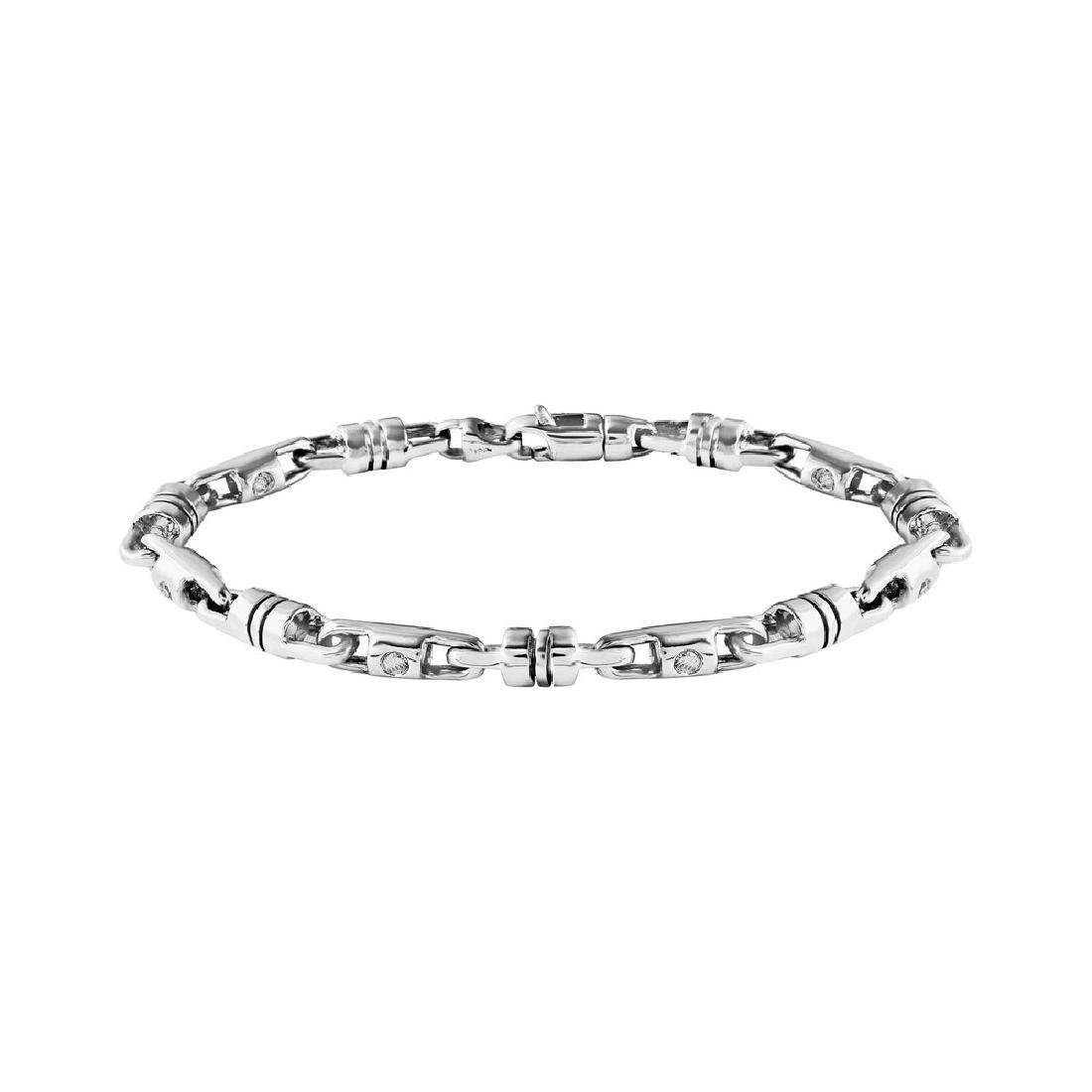 Genuine 2.97 TCW 14K White Gold Ladies Bracelet