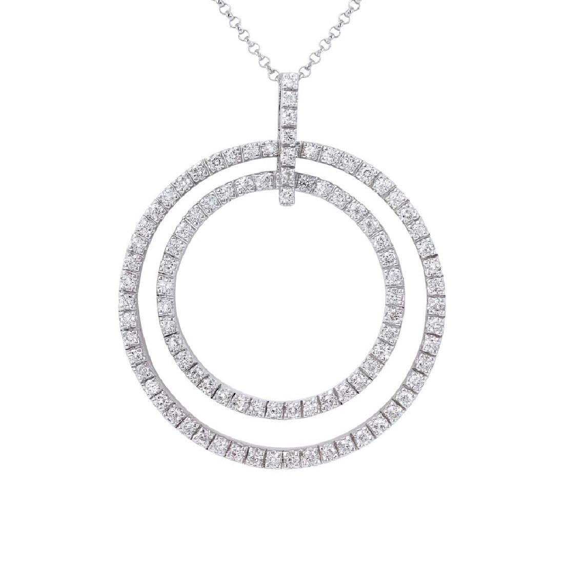Genuine 1.16 TCW 18K White Gold Ladies Necklace