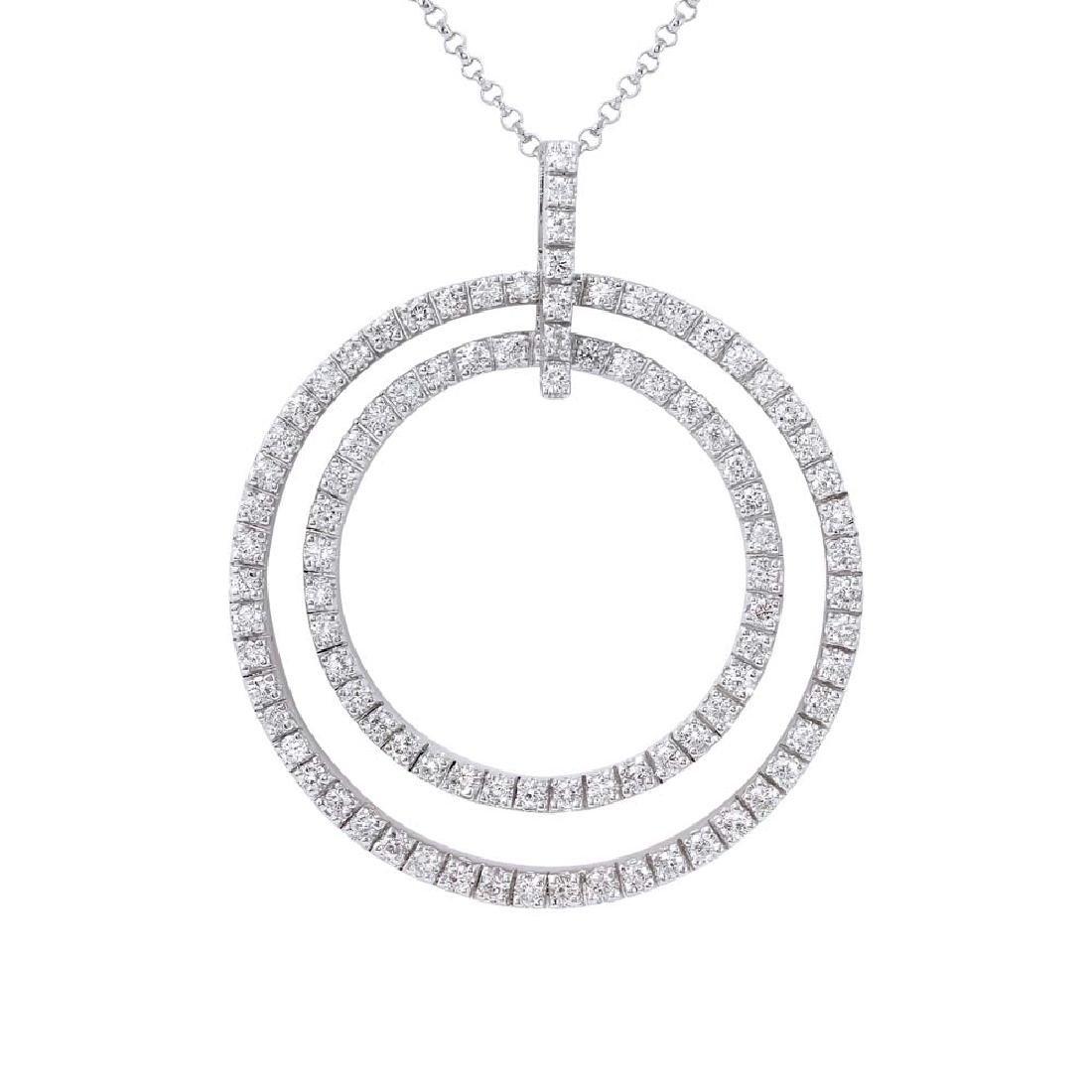 Genuine 1.16 TCW 18K White Gold Ladies Necklace