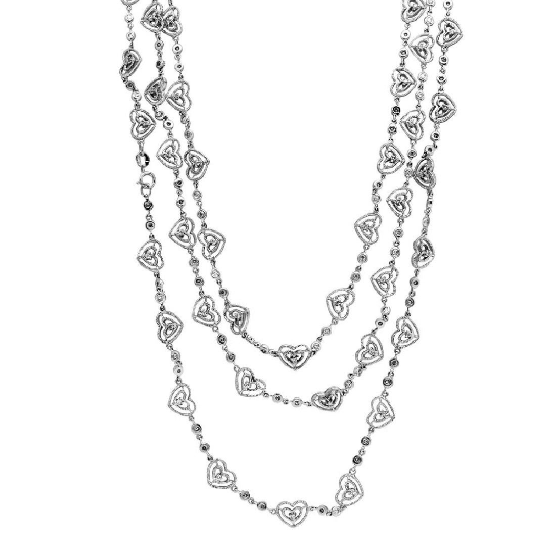 Genuine 4.75 TCW 14K White Gold Ladies Necklace