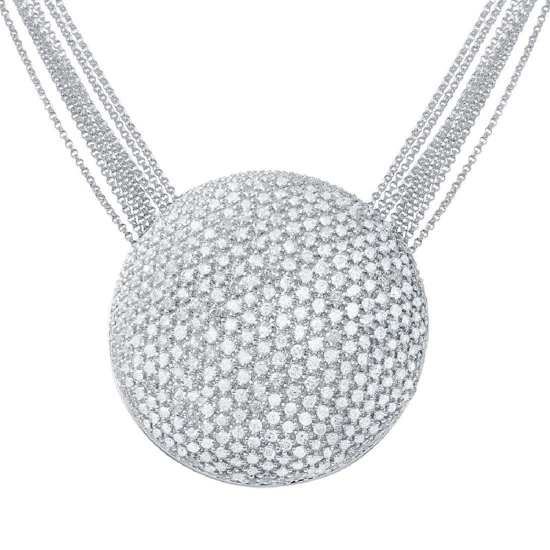 Genuine 6.78 TCW 14K White Gold Ladies Necklace