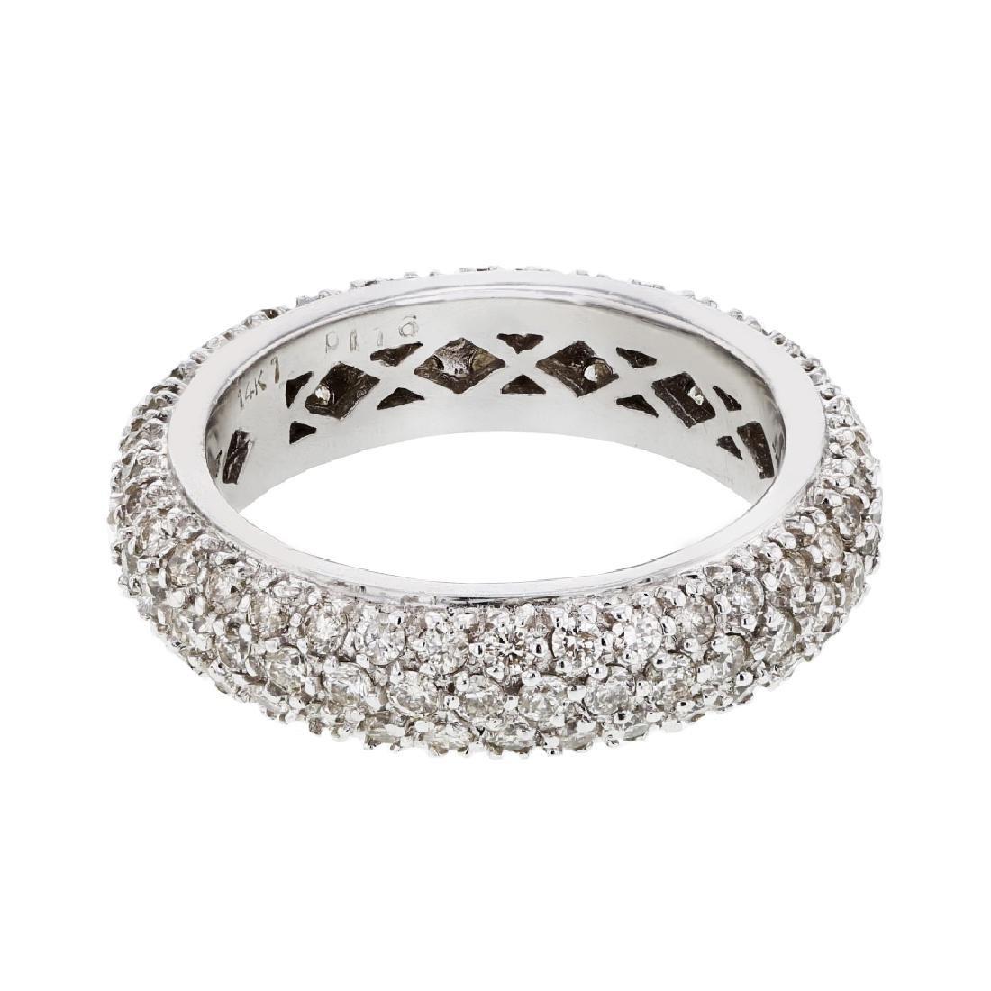 1.76 CTW Diamond Wedding Band  Ring in 14K White Gold