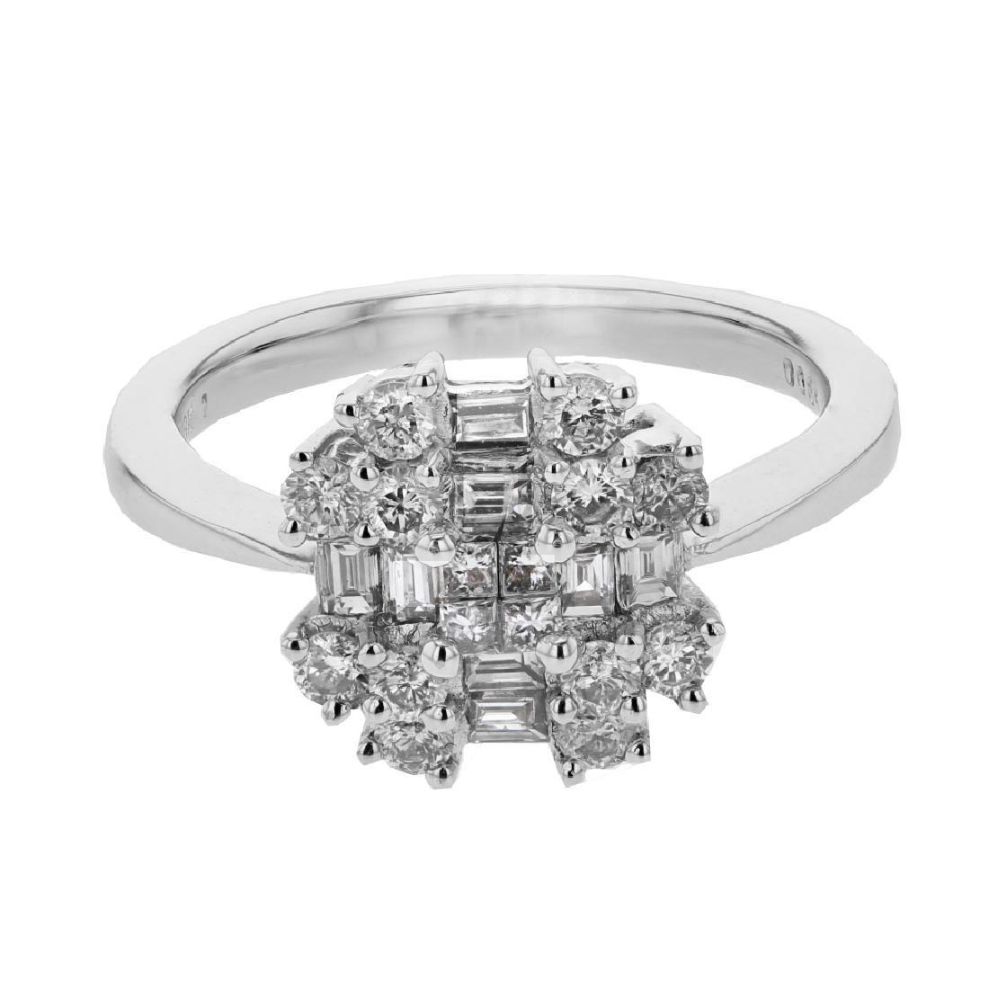 0.85 CTW Diamond Cocktail  Ring in 18K White Gold