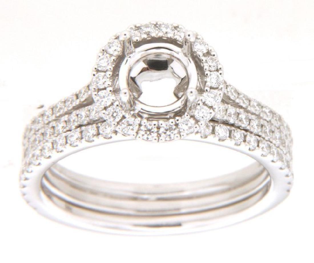 0.88 CTW Diamond Engagement  Ring in 14K White Gold