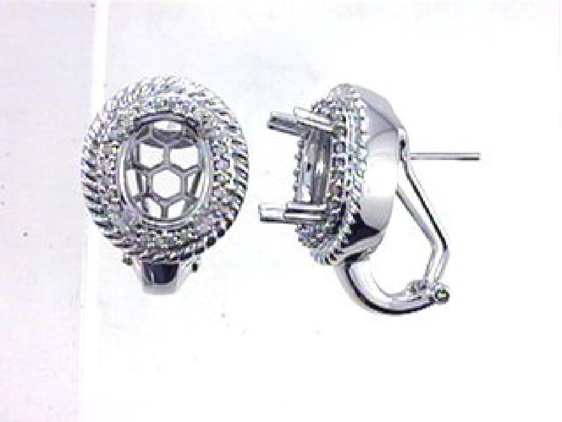 0.5 CTW Diamond Semi Mount  Earring in 14K White Gold