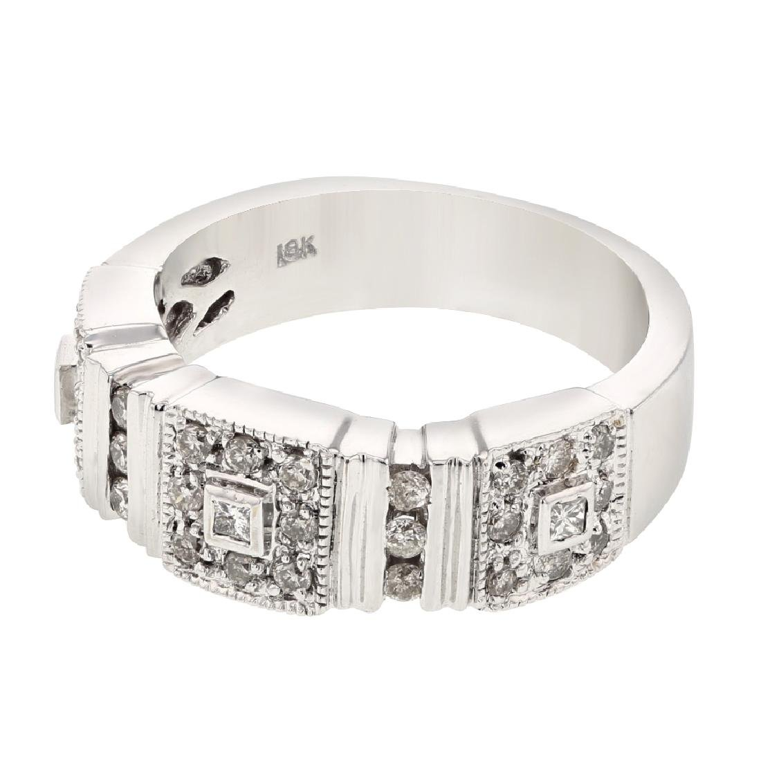 0.5 CTW Diamond Fashion  Ring in 18K White Gold