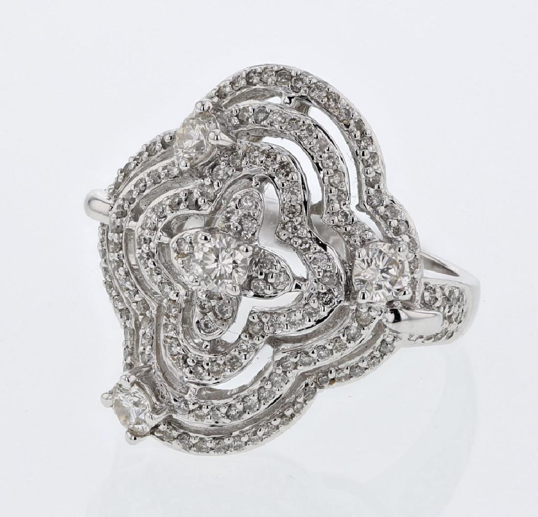 1.13 CTW Diamond Fashion  Ring in 14K White Gold