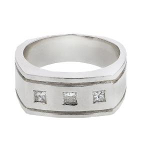0.29 CTW Diamond Gents  Ring in 14K White Gold