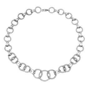 5.6 CTW Diamond Chain  Necklace in 14K White Gold
