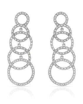 0.94 CTW Diamond Dangling Earring 14K White Gold