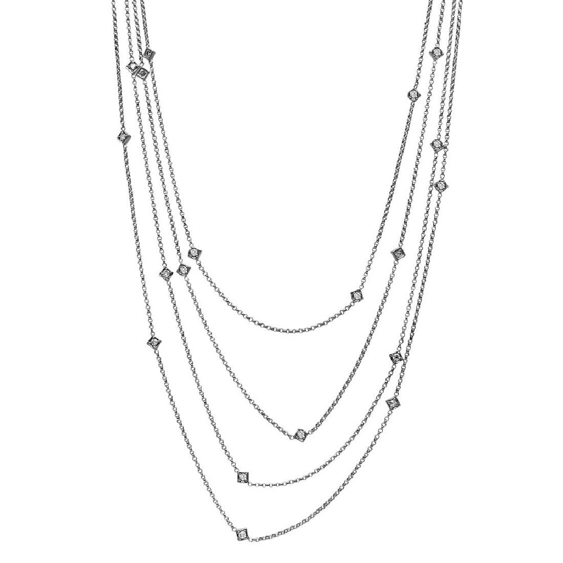 0.96 CTW Diamond Chain Necklace 14K White Gold