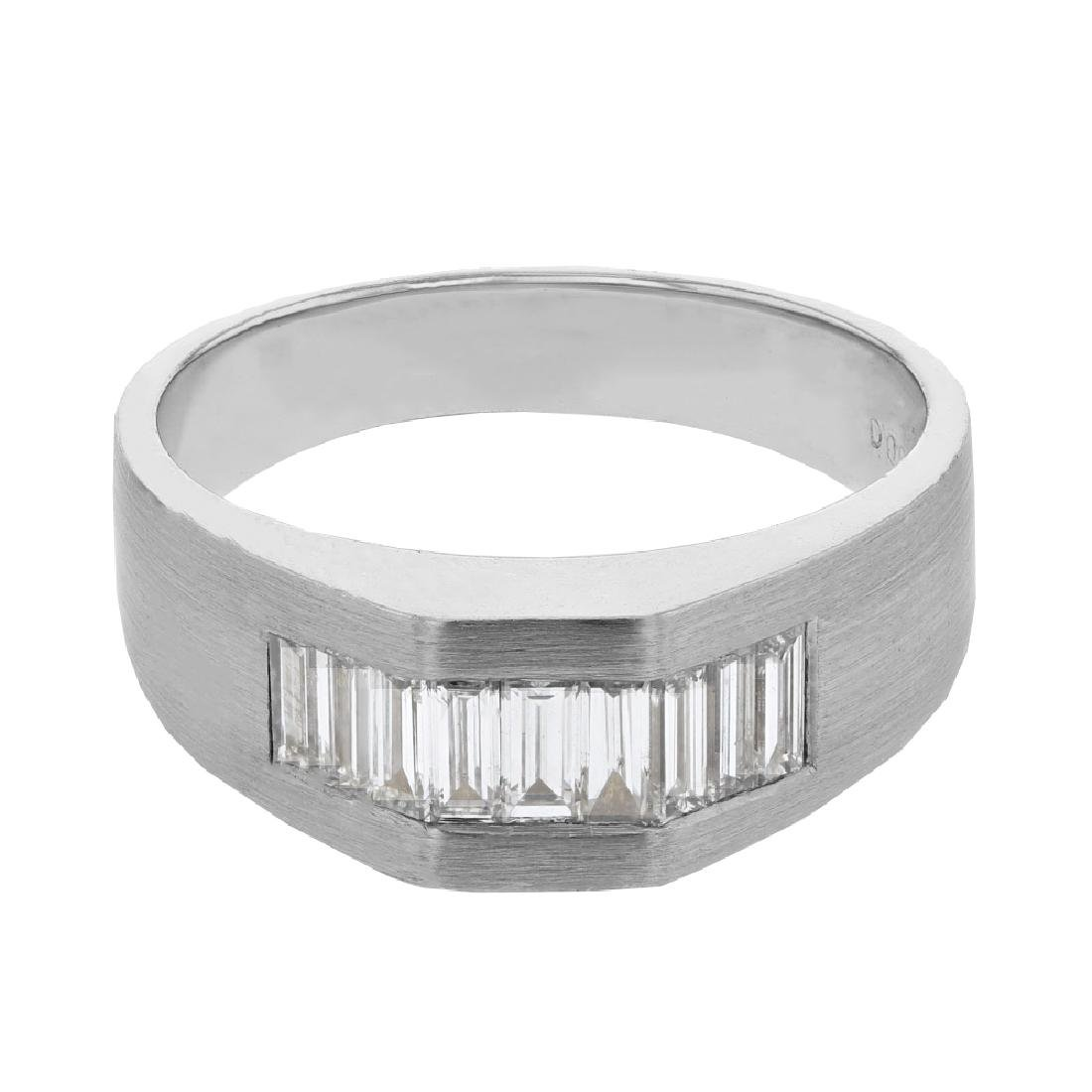 1.03 CTW Diamond Wedding Band Ring 14K White Gold