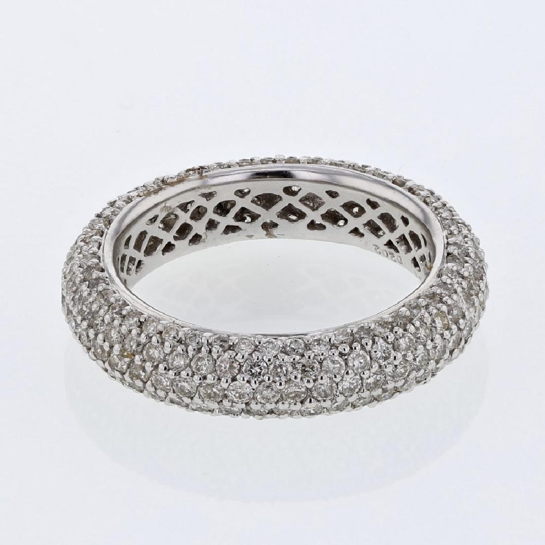 2.02 CTW Diamond Wedding Band Ring 14K White Gold