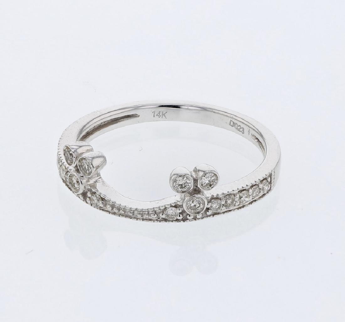0.23 CTW Diamond Wedding Band  Ring in 14K  White Gold