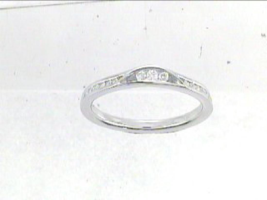 0.2 CTW Diamond Wedding Band  Ring in 14K White Gold