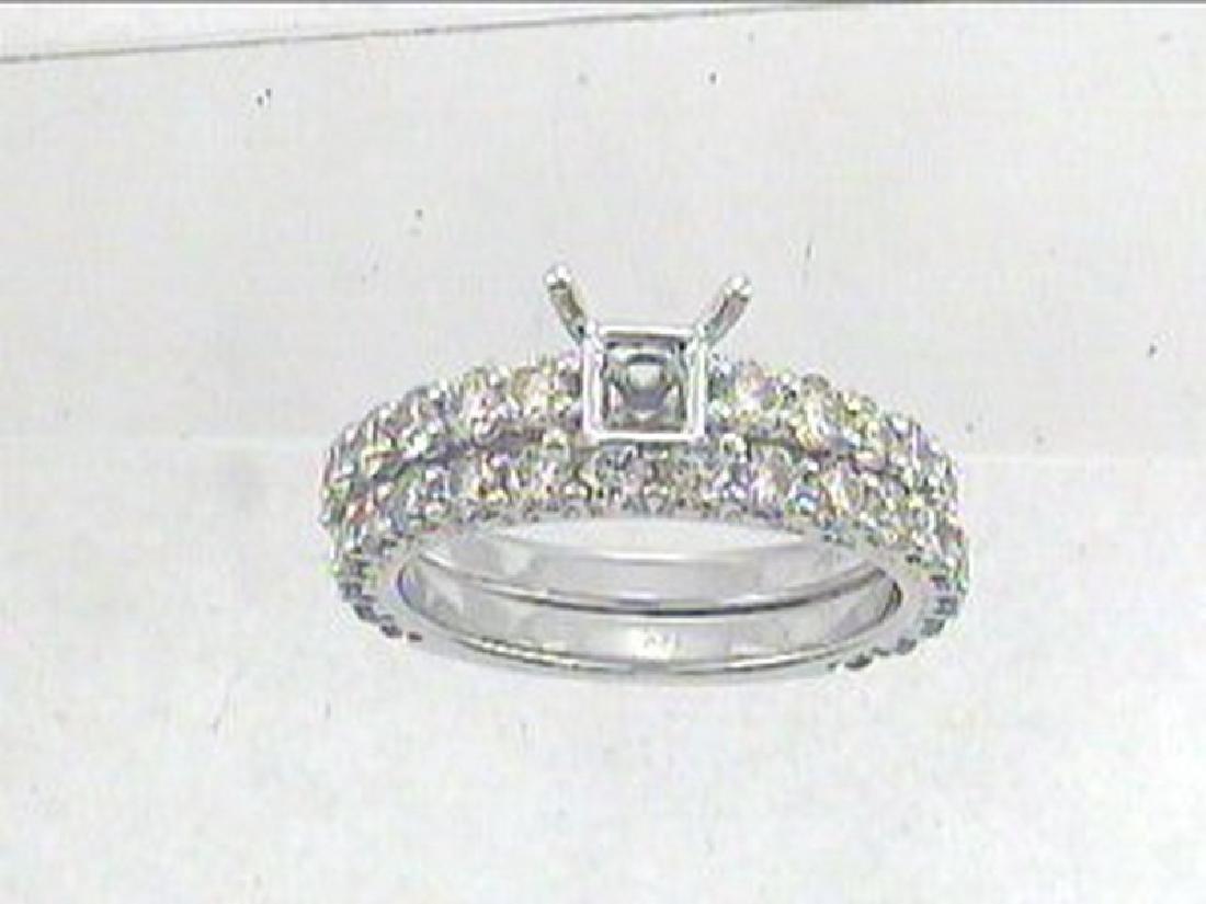2.19 CTW Diamond Engagement  Ring in 14K White Gold