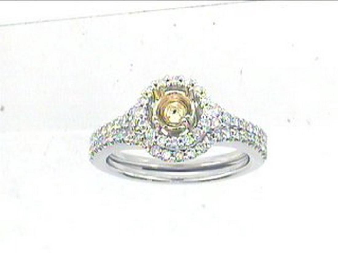 0.63 CTW Diamond Engagement  Ring in 14K Two Tone