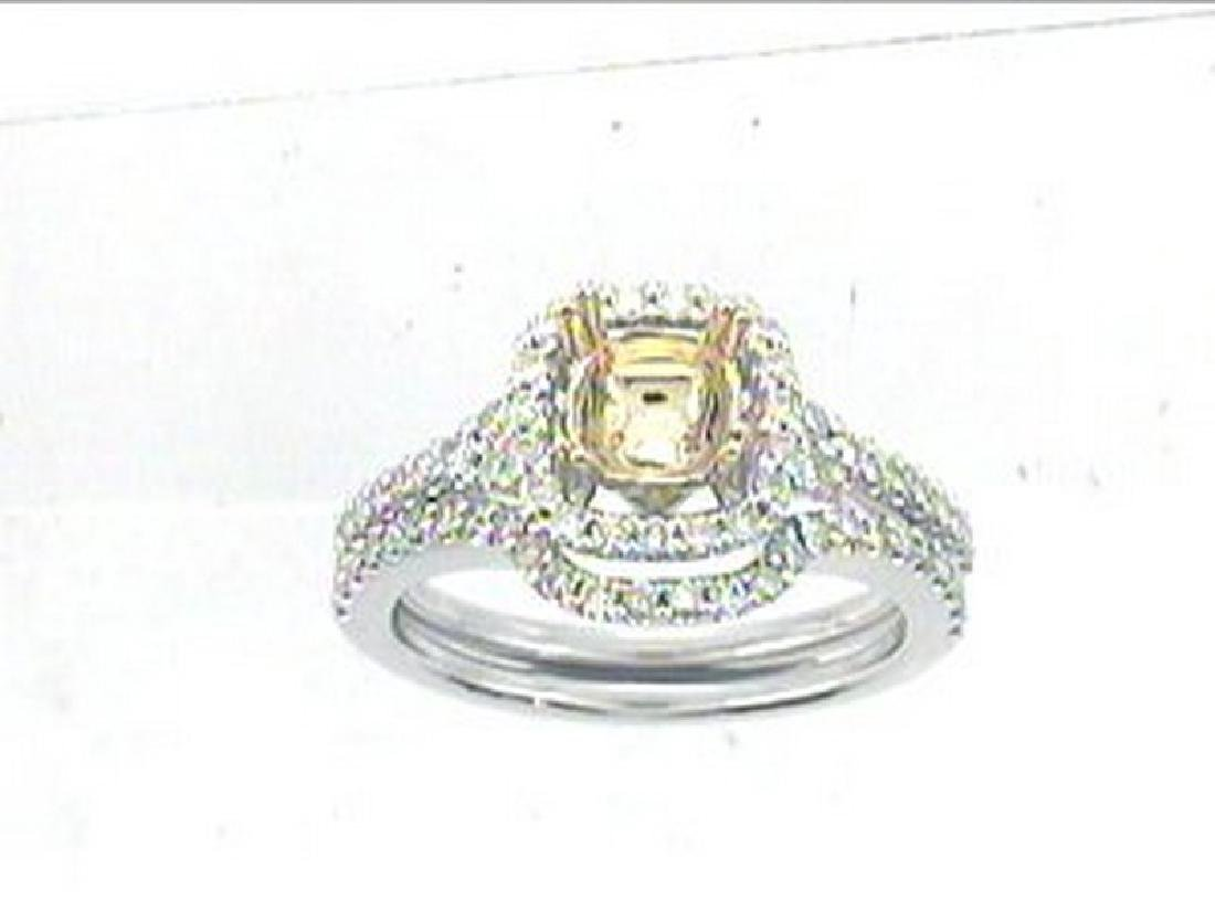 0.65 CTW Diamond Engagement  Ring in 14K Two Tone