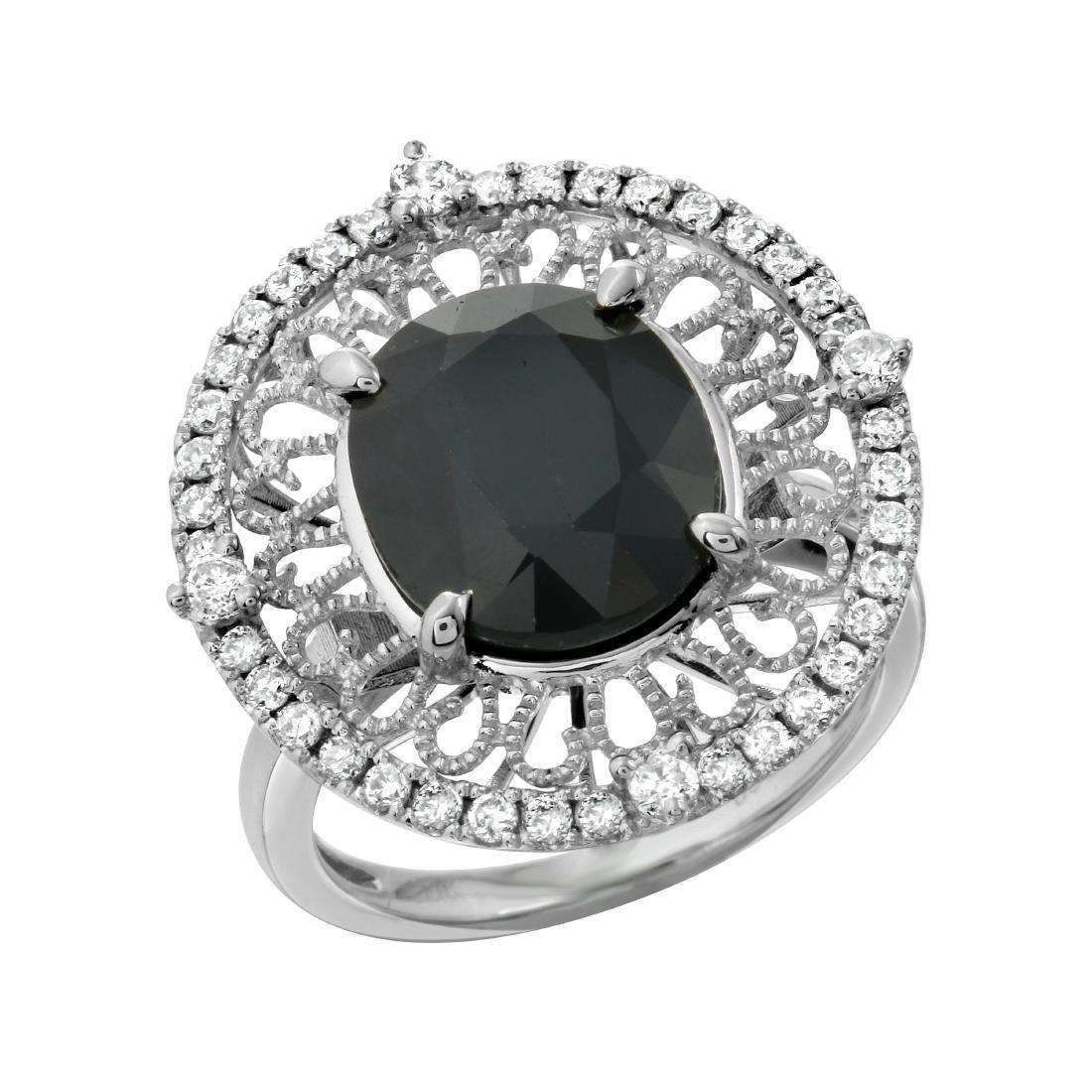 0.59 CTW Diamond Semi Mount  Ring in 14K White Gold
