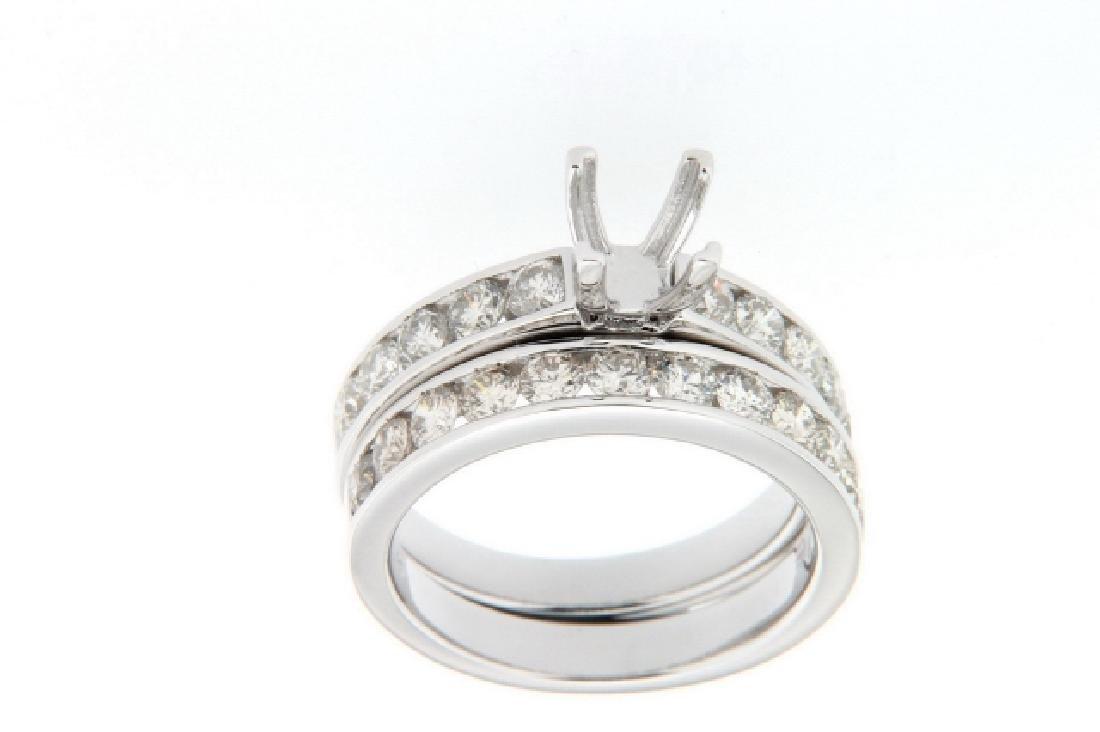 1.49 CTW Diamond Engagement  Ring in 14K White Gold