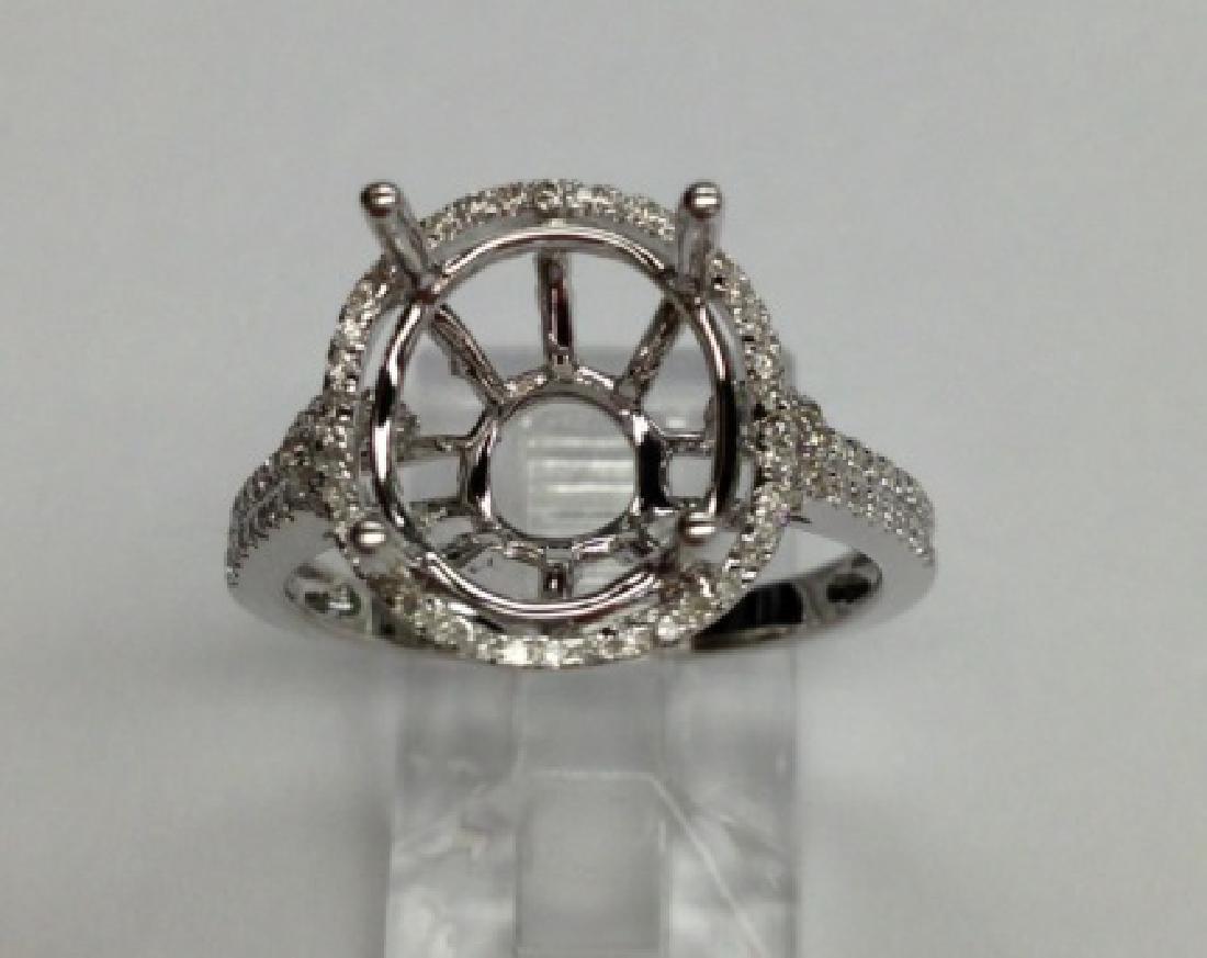 0.35 CTW Diamond Semi Mount  Ring in 14K White Gold