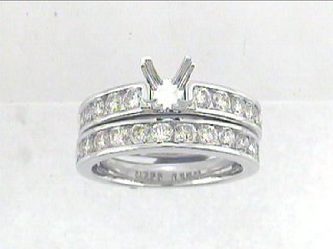1.52 CTW Diamond Engagement  Ring in 14K White Gold