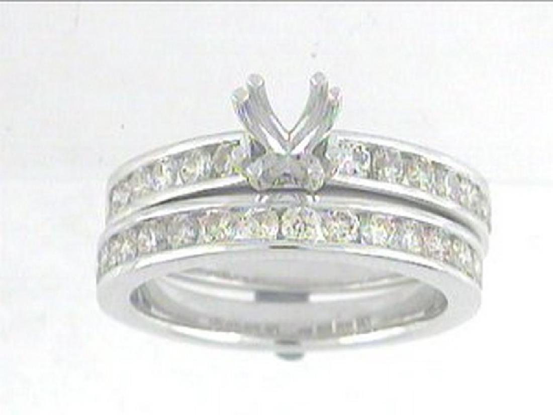 1.24 CTW Diamond Engagement  Ring in 14K White Gold