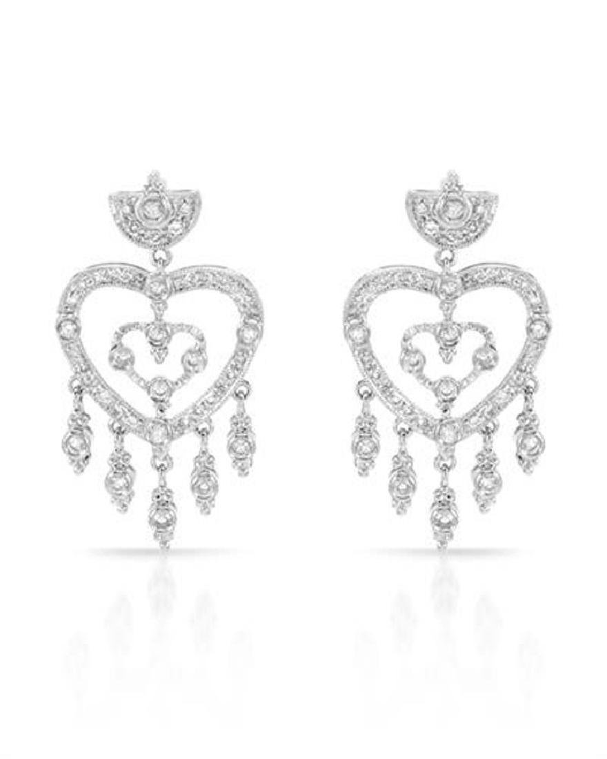 0.81CTW Diamond Chandelier  Earring in 14K White Gold