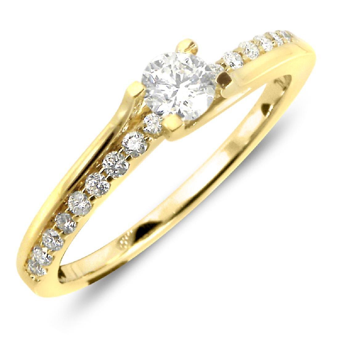 0.19CTW Diamond Semi Mount  Ring in 14K White Gold