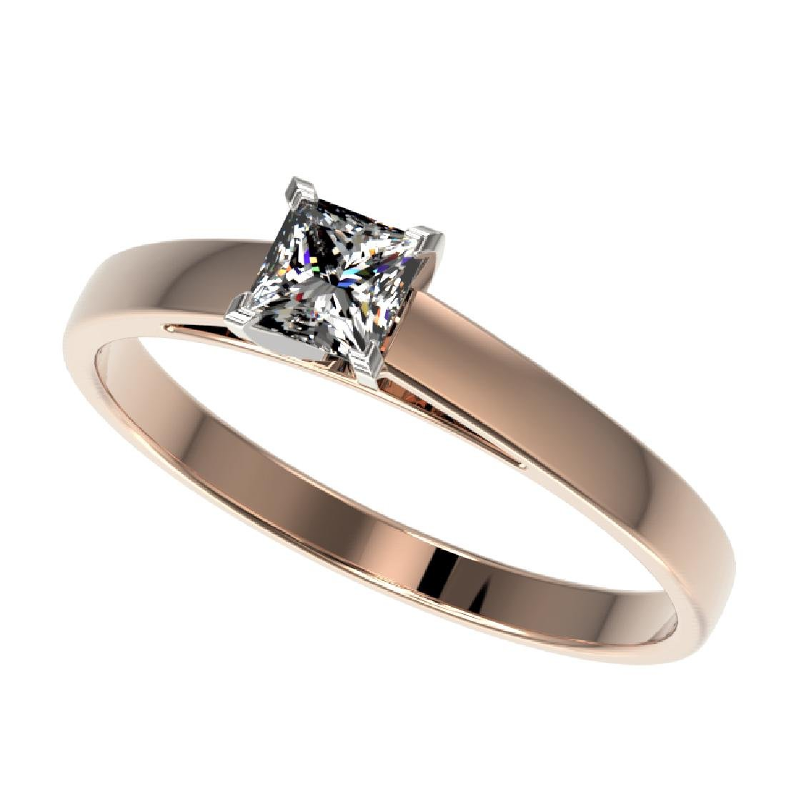 0.50 CTW VS/SI Quality Princess Diamond Solitaire Ring
