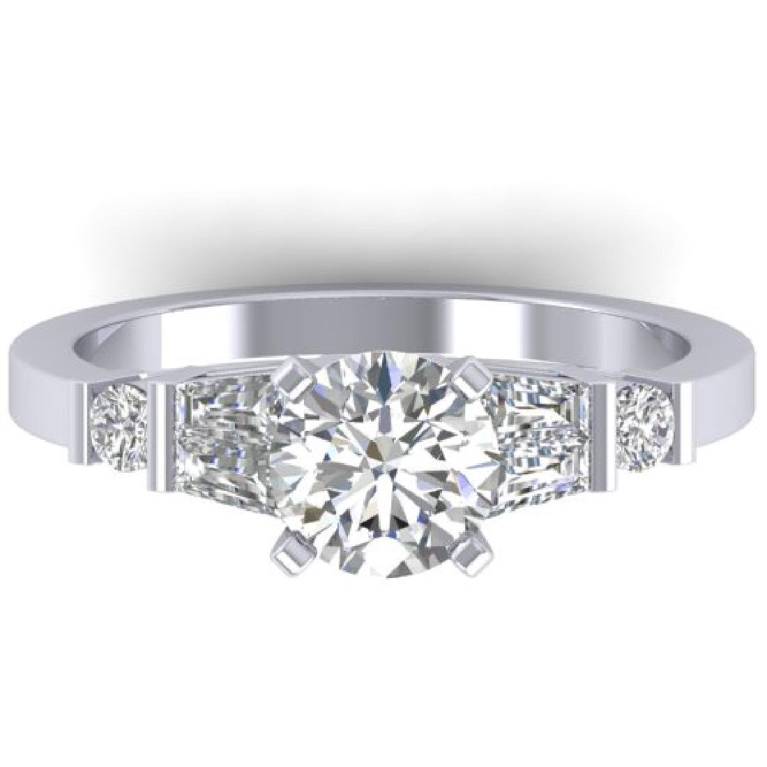 1.69 CTW VS/SI Diamond Solitaire Ring 14K White Gold -