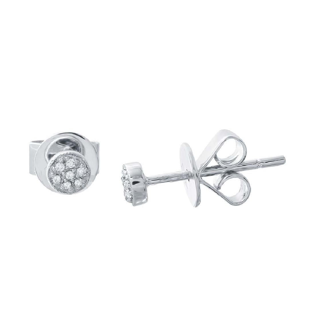 0.09CTW Diamond Stud Earring 14K White Gold