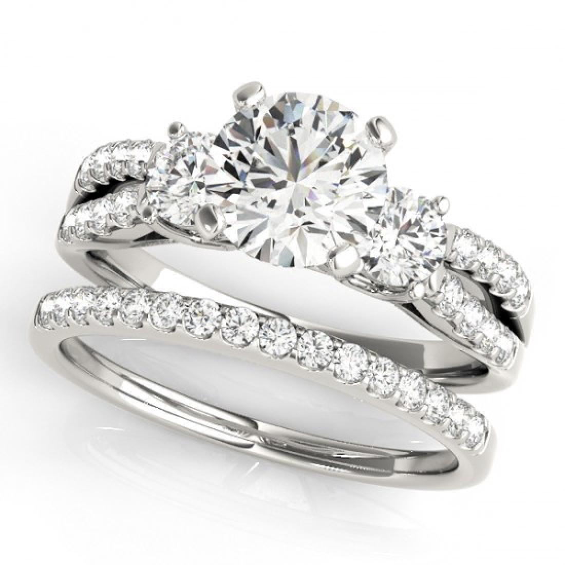 1.71 CTW VS/SI Diamond 3 Stone 2Pc Wedding Set 14K