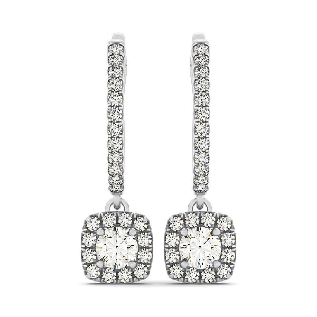 1.35 CTW Diamond Solitaire VS/SI Certified Halo 14K - 2