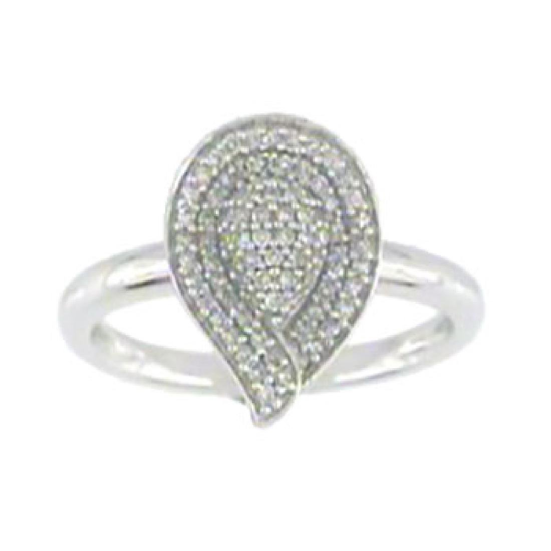 0.29CTW Diamond Ring 14K White Gold