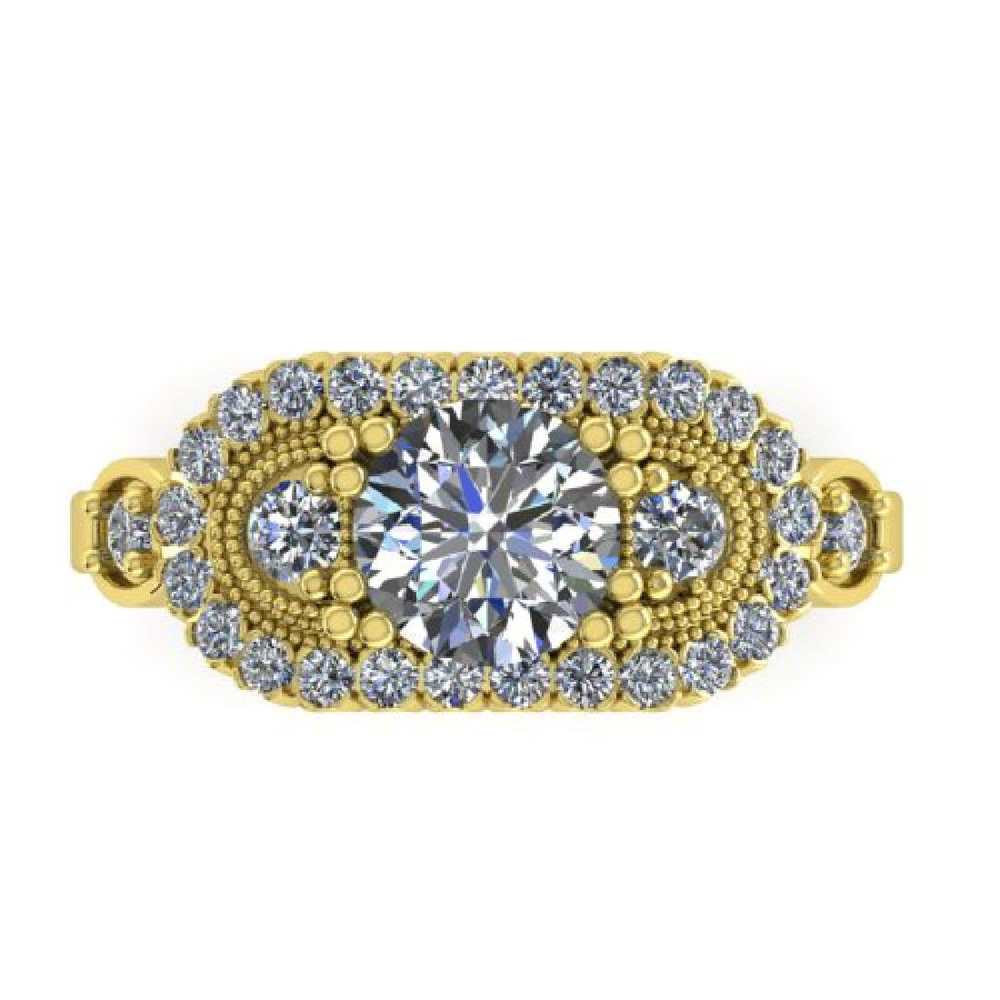 1.75 CTW Solitaite Certified VS/SI Diamond Ring 14K